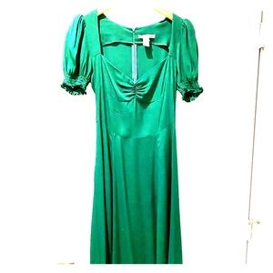 Reformation Lacey Dress, size 6, emerald green